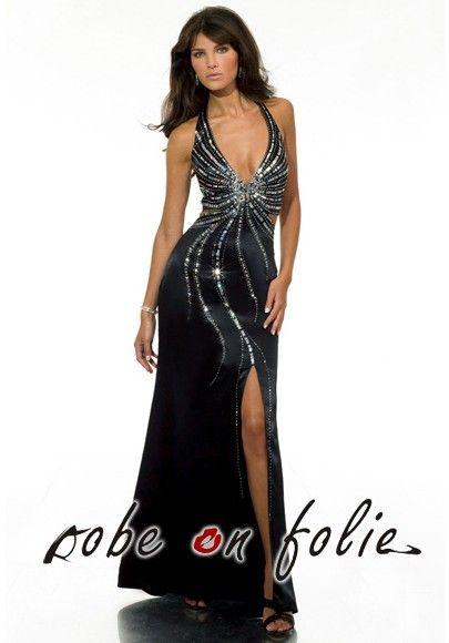 Élégante robe de soirée \u201dHOLLYWOOD STAR\u201d avec des bijoux décoratif