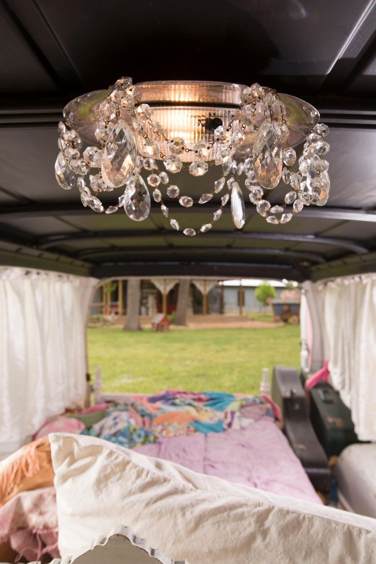 car Chandelier made from a silver platter and crystals. Get the Junk Gypsies Look >> http://www.greatamericancountry.com/shows/junk-gypsies/get-the-junk-gypsies-look-pictures?soc=pinterest