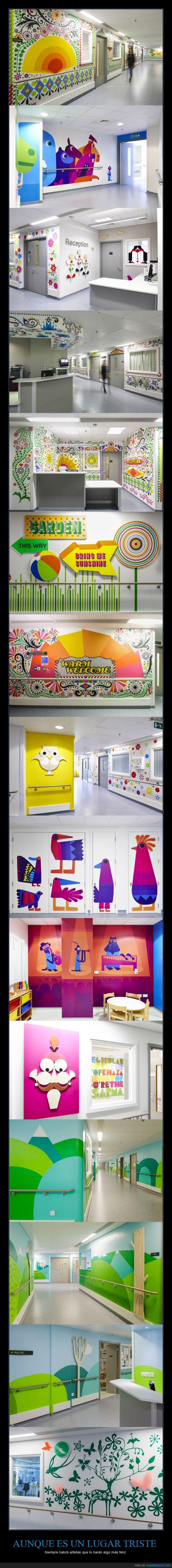 Decorando un hospital infantil en Londres
