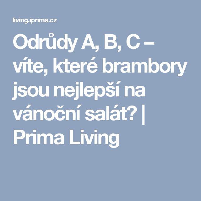 Odrůdy A, B, C – víte, které brambory jsou nejlepší na vánoční salát?  | Prima Living
