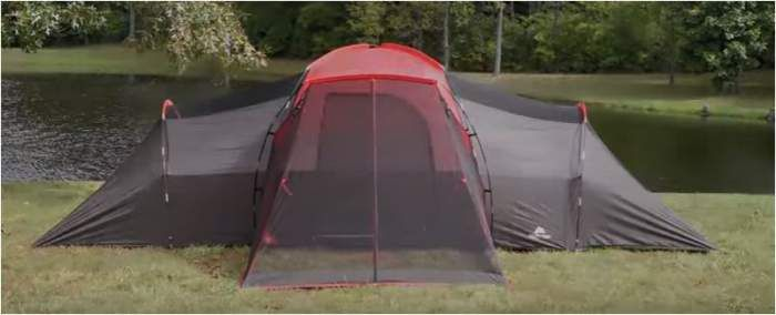 Ozark Trail 10 Person Tent With Screen Porch – 21 x 15 Feet Extended Dome Tent #tents, #camping, #familycampingtents, #screendetents, #outdoors, #outdoorequipment