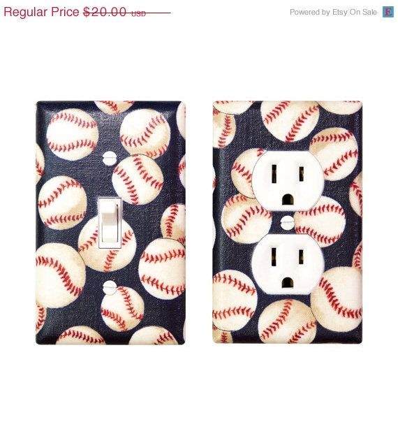 HOLIDAY SALE Baseball Nursery Decor Light Switch By SSKDesigns 1800