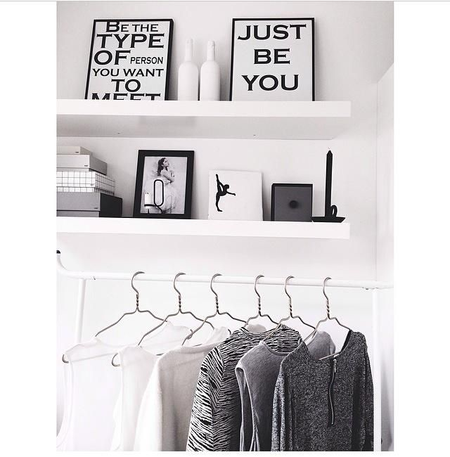 Wardrobe decorated With livink posters