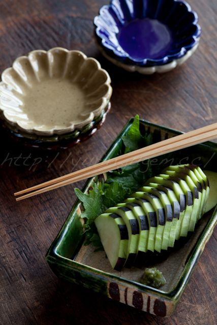 Eggplant Pickles with Wasabi 水茄子