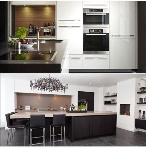 17 best images about moderne witte keuken on pinterest ovens block island and the wall - Welke kleurenmuur voor een grijze keuken ...