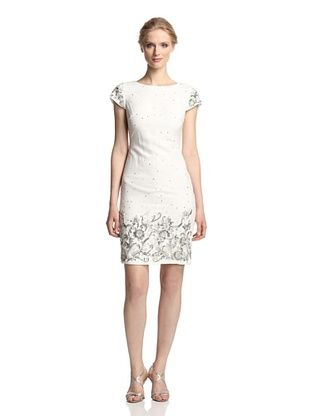 67% OFF Marchesa Notte Women's Cocktail Dress with Sequins (Ivory)