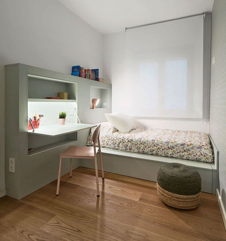 small bedroom furniture. this small kids bedroom combines the bed frame a desk and shelves to save space furniture