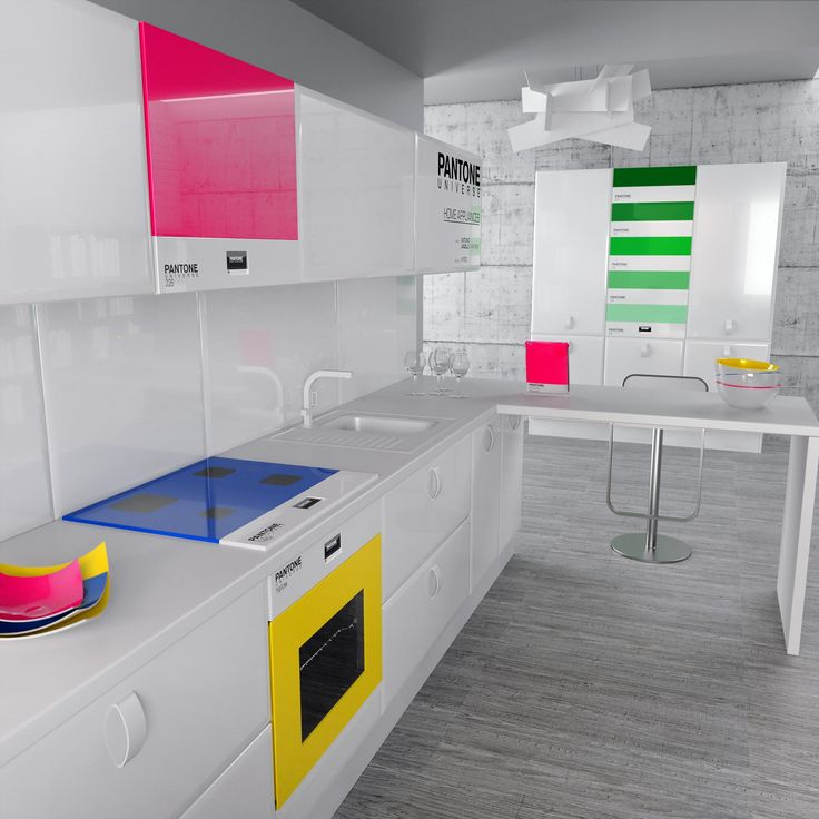 Pantone. love it!: Idea, Dreams Kitchens, Kitchens Design, Interiors Design, Pantone Kitchens, Neon Colors, House, Modern Kitchens, Bright Colors