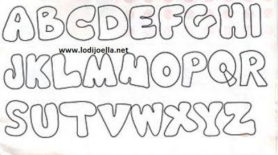 Letras en Fieltro ~ lodijoella