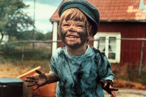 Actor Kajsa Dandenell in the film Tjorven och Skrållan, based on the Astrid Lindgren's children's book and SVT television series Vi på Saltkråkan, Sweden, 1965, photograph by Skull Bergholm.