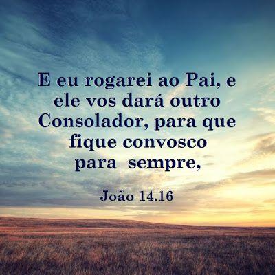Evangelho de Cristo: EU ROGAREI AO PAI O CONSOLADOR