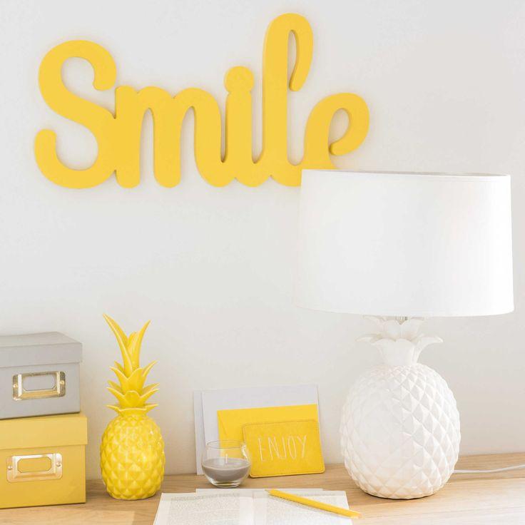Ananas-Lampe aus weißer Keramik, VICTORIA | Maisons du Monde
