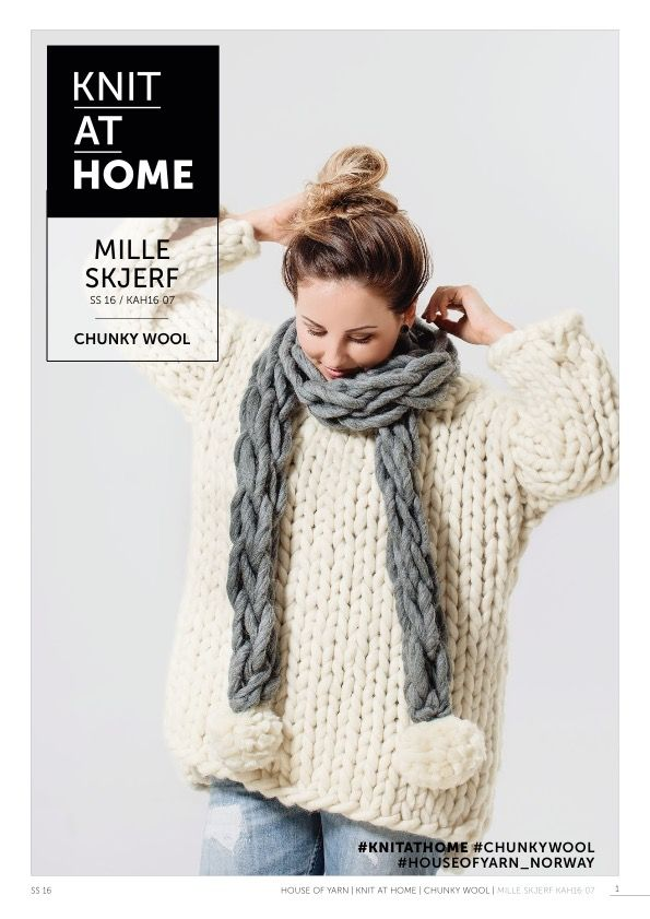 16-07 MILLE SKJERF | free knitting pattern | knitted scarf | hand knitted | chunky knits