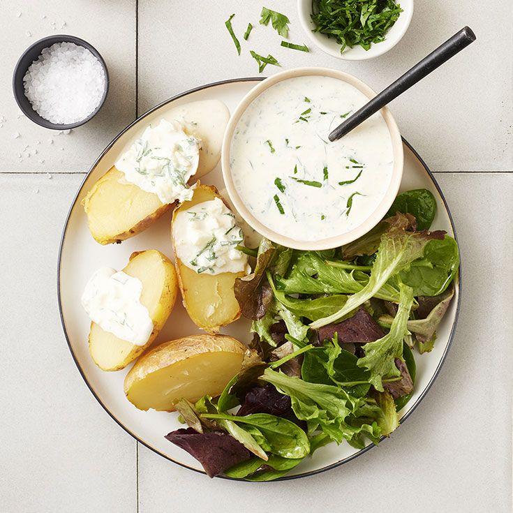 Pommes de terre au four, sauce tartare - illico Fresco