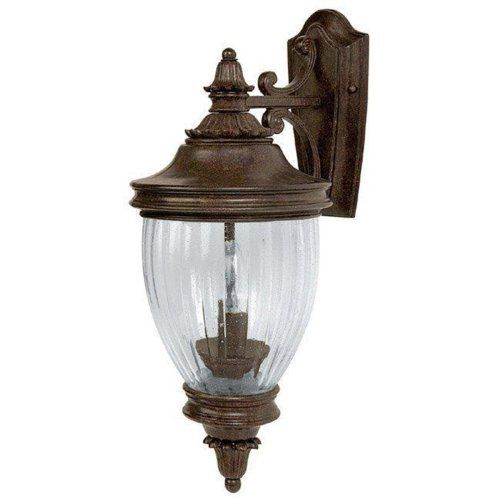 Wall Battery Light Fixture : Capital Lighting 9771TS Battery Park 2-Light Outdoor Wall Mount Fixture, Tortoise with Seeded ...
