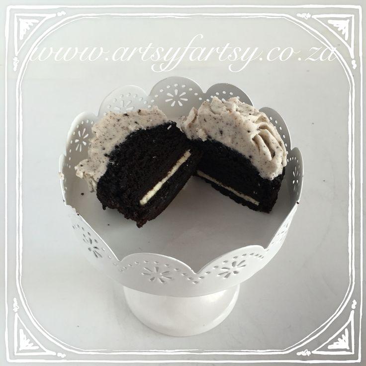 Oreo Cookie Cupcakes #oreocookiecupcakes