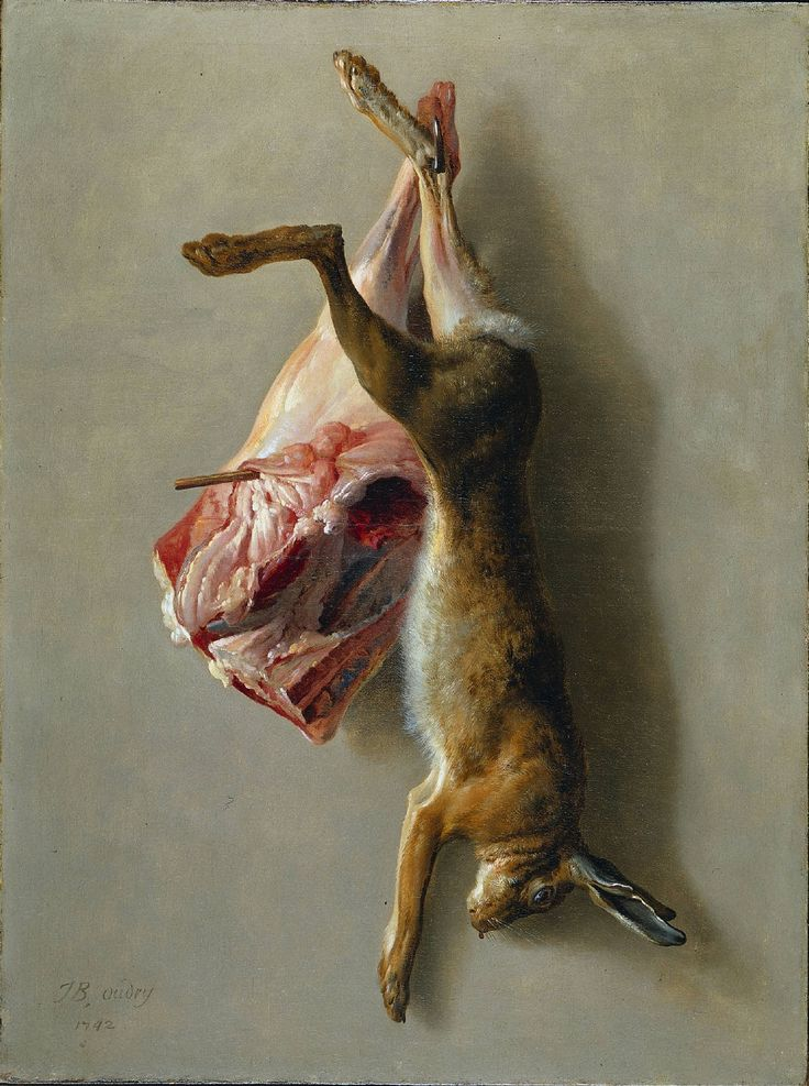 Jean-Baptiste Oudry - A Hare and a Leg of Lamb, 1742