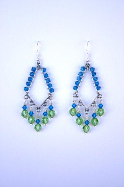 Modern chandelier earrings
