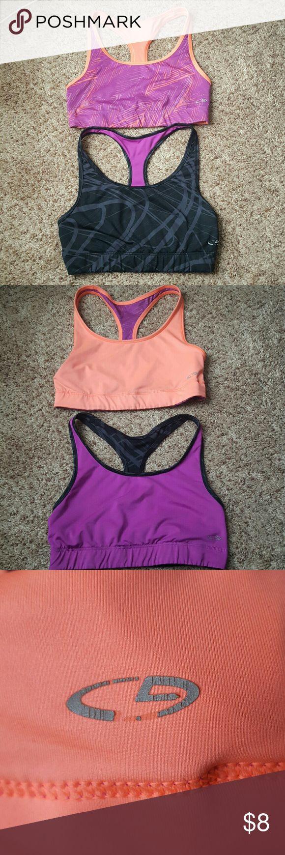 Two reversible sport bras Two reversible Champion sports bras. Gently used. Champion logo is slightly peeling. Champion Intimates & Sleepwear Bras