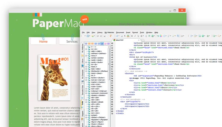The CoffeeCup Free HTML Editor is code editor with Built-in FTP uploading. Download the CoffeeCup Free HTML Editor Today!