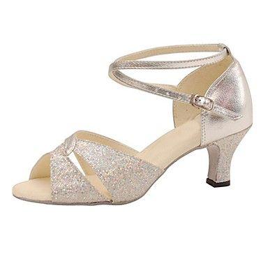 sandalias 7 cm elegantes strass negro talón cuadrado sandalias como piel 1164