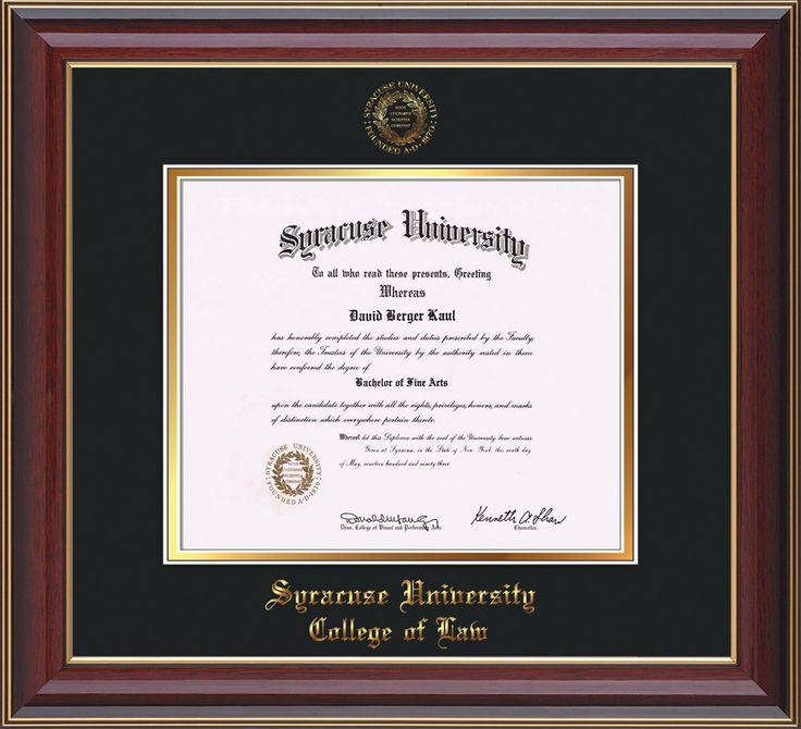 Syracuse University Diploma Frame-Che Lacquer-w/SU Law-Black on Gold – Professional Framing Company