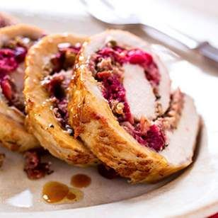 Cranberry-Rosemary Stuffed Pork Loin Recipe from Eating Well