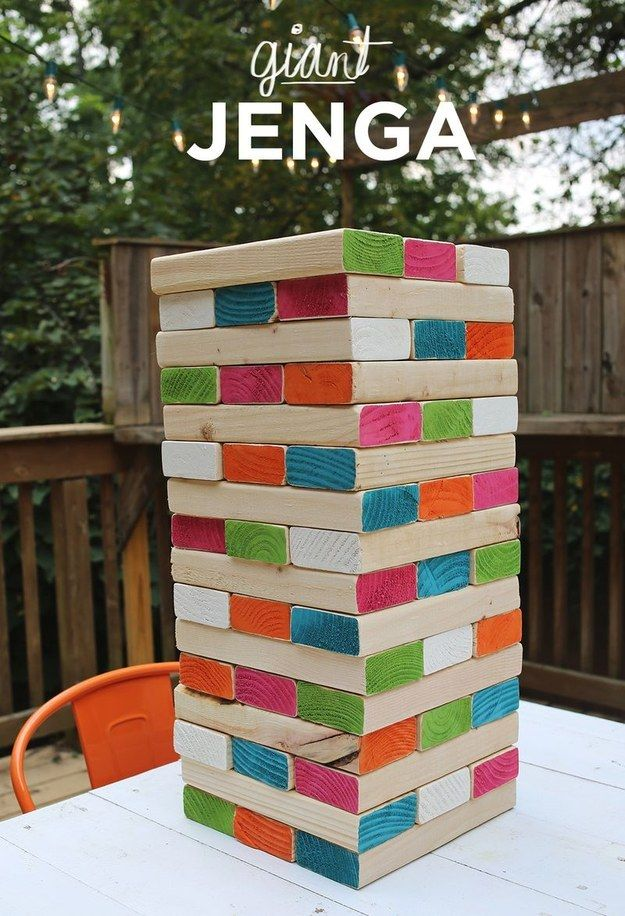 Giant Jenga | 27 Insanely Fun Outdoor Games You'll Want To Play All Summer Long
