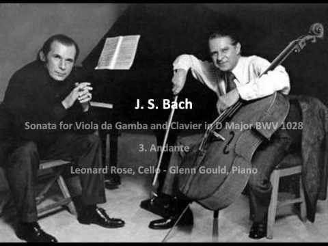 J. S. Bach - Sonata for Viola da Gamba and Clavier in D Major BWV 1028 -...