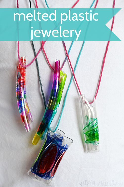 Melted Bottle Jewelry - art and science and just plain fun!