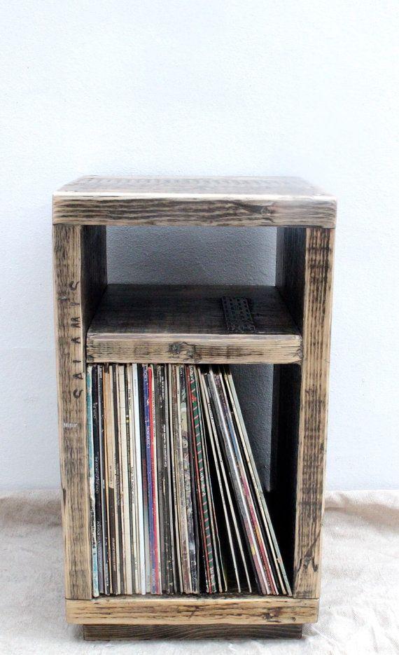 Reclaimed Wood Side Table Handmade & Bespoke by OldManAndMagpie