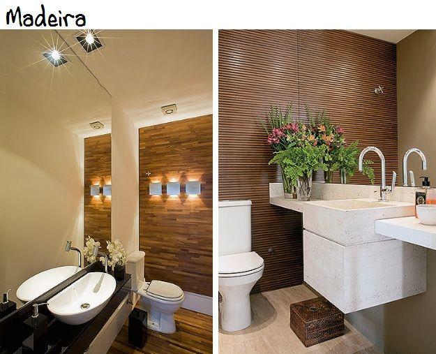 Veja como decorar o lavabo da sua casa madeira cuba and - Piso pequeno moderno ...