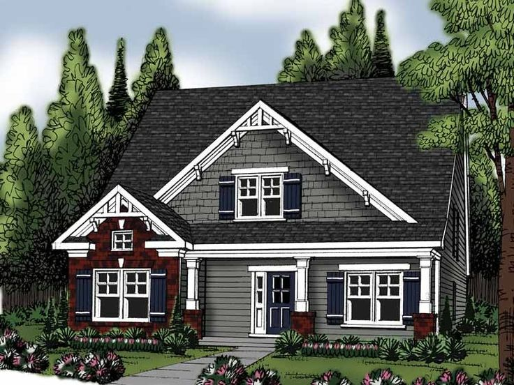 eplans new american house plan - four bedroom new american - 2250