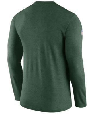 Nike Men's Green Bay Packers Coaches Long Sleeve T-Shirt - Green L
