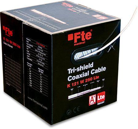 Nuovo cavo coassiale Tri-shield LTE con conduttore centrale in CCS, sezione da 5.5 mm in classe A+.