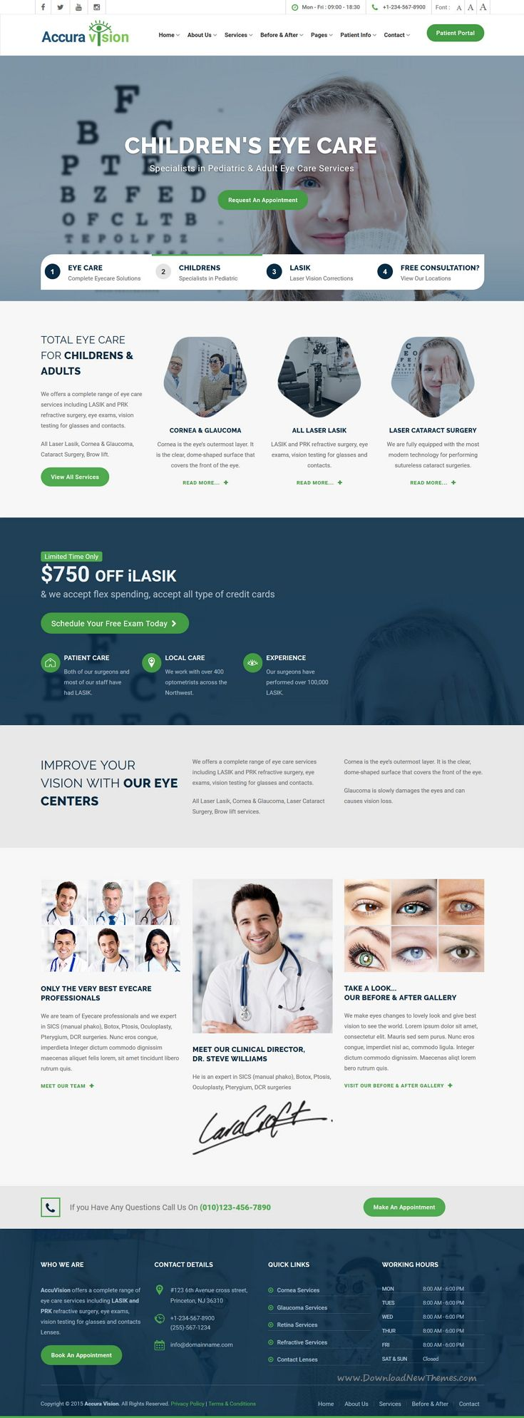 EyeCare is premium Bootstrap HTMl5 template for #Optometrist, Eye Doctor…