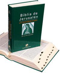 Biblia Latinoamericana letra grande Cuerpo de letra 12 Formato 15 x 21 1.866 págs. Papel Biblia 32 g./m2 Encuadernación: cartoné a cuatro colores INCLUYE INTRODUCCIONES, NOTAS Y PARALELOS