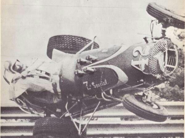 Herman Wise Flips At Atanta Ga 1968 Vintage Auto