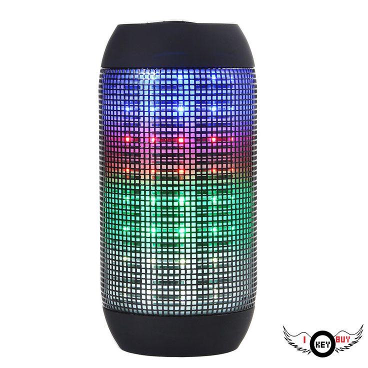 1PC High Quality Cylindrical Sound LED Lantern Bluetooth Speaker Wireless Radio Car Computer USB Power Black