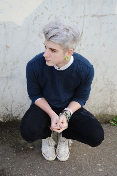 ash platinum blonde colorful hair pinterest blue