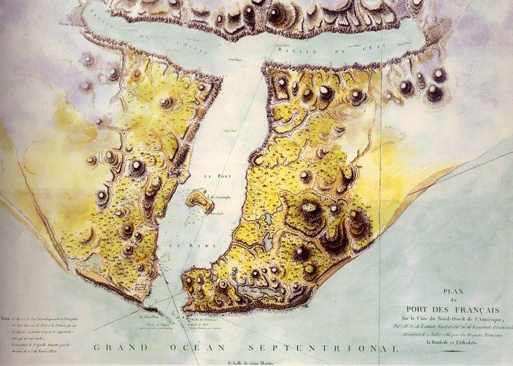 1797  Plan du Port des Français  Atlas du Voyage de La Pérouse  Collection Particulière