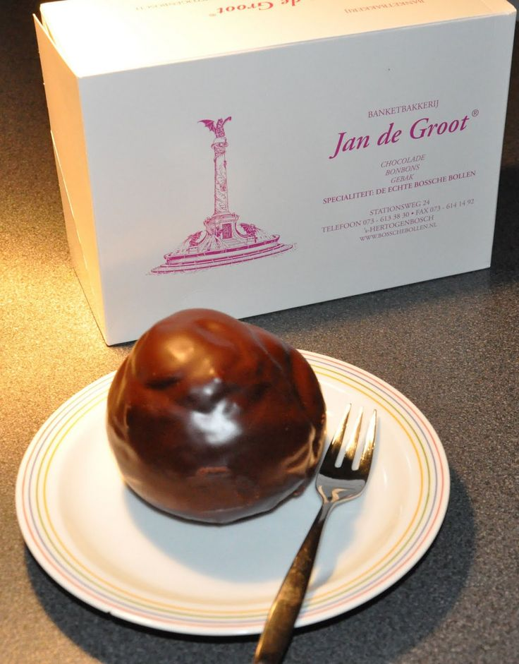 Typical Dutch delicacy: Bossche Bollen. These are the best, made by worldfamous-in-the-Netherlands patissier Jan de Groot from Den Bosch. What it is? It is a large profiterole filled with whipped cream and covered in chocolate ganache. Sounds easy, but Jan de Groot has elevated the Bossche Bol to a totally other level.
