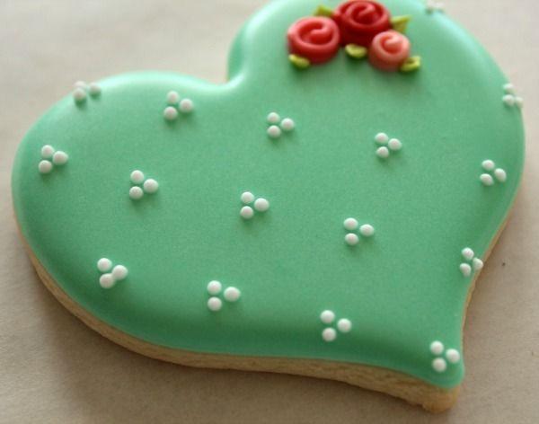 Romántico día de San Valentín galletas de cerca