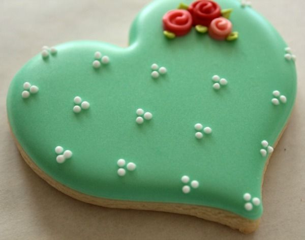 Romantic Valentine Day Cookie Close Up                                                                                                                                                                                 More