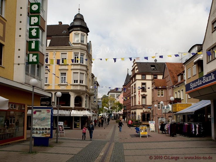 The Fussgangerzone of Zweibruecken, Germany...this is the town I lived in for 3 years!  LOVED, LOVED, LOVED living in Germany!!!