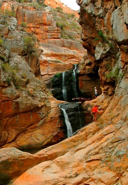 Cedar Falls Hiking Trail, Baviaanskloof, South Africa. Make the most of autumn!Take the family out for a fun-filled hiking adventure for the day. It's great excercise, too!
