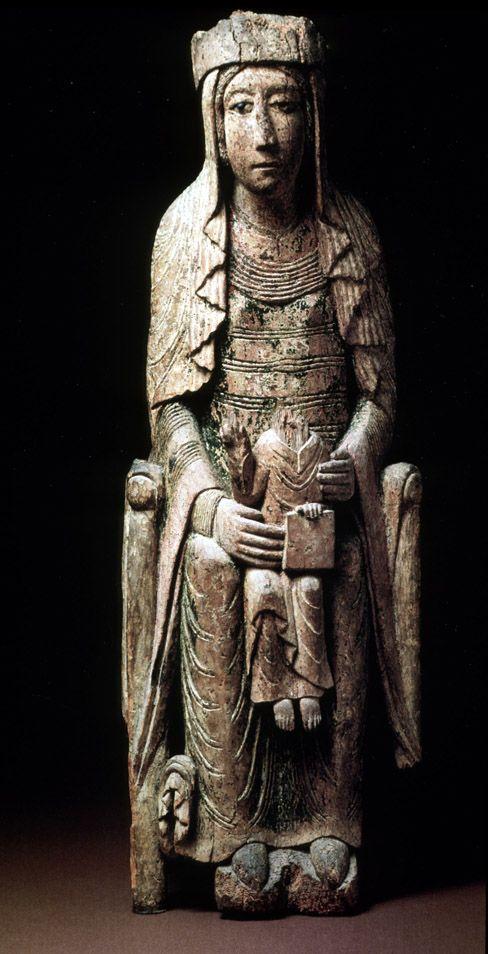 Virgen románica francesa. 1113-40. New York Metropolitan Museum of Art
