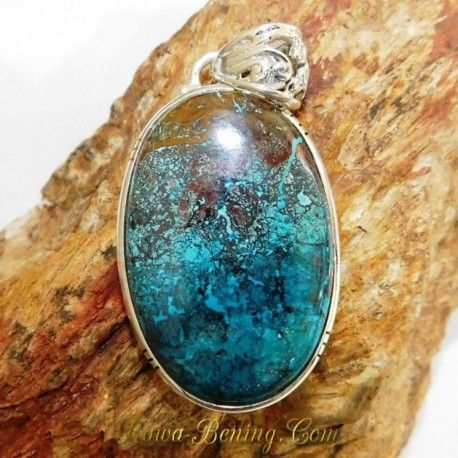 Batu Liontin Blue Chrysocolla