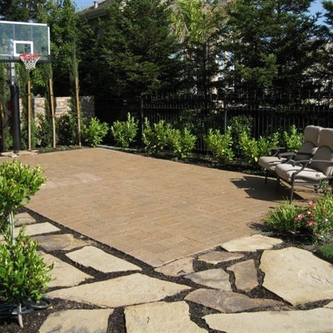 Basketball court design ideas pictures remodel and decor for Outside yard designs