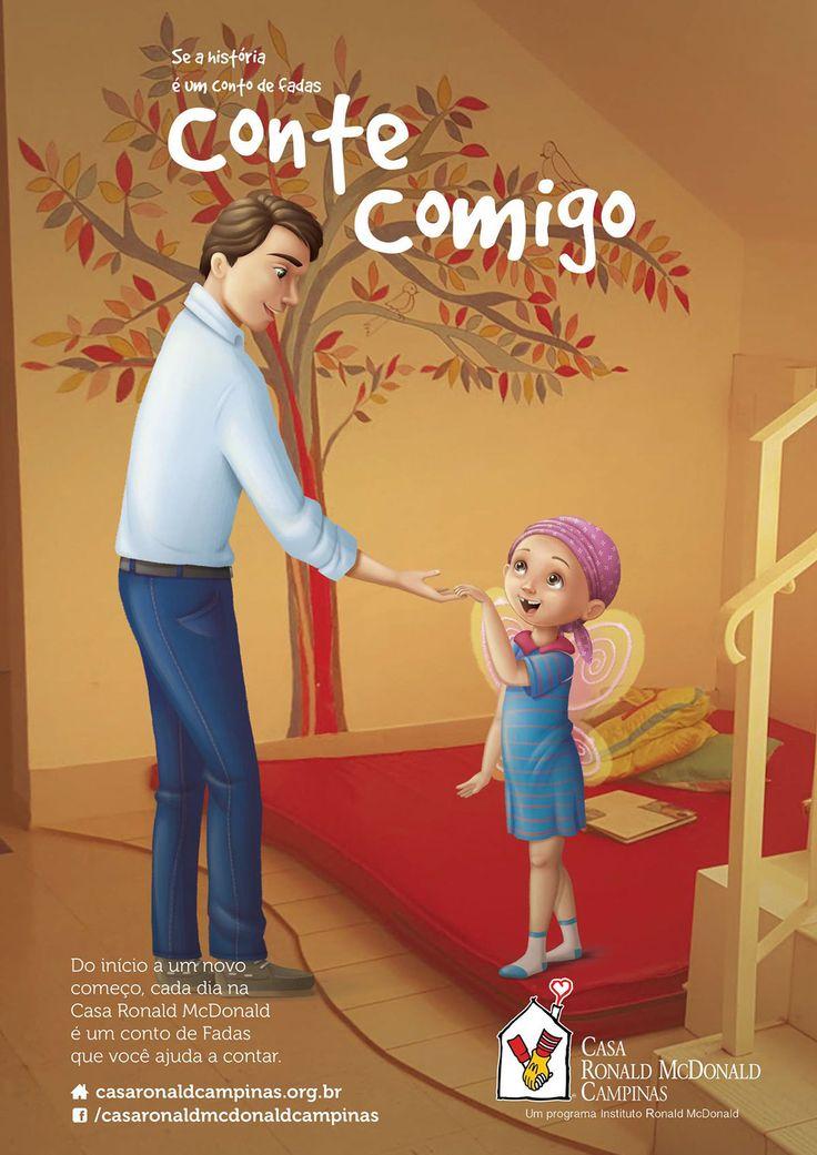 Ilustração para Casa Ronald McDonalds - APP Campinas on Behance